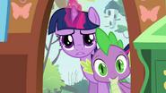 Twilight and Spike peeking inside S03E13