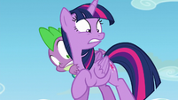 Twilight and Spike surprised S5E26