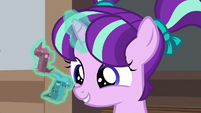 Young Starlight levitating Dragon Pit pieces S7E24