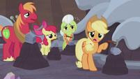 Applejack -that rock is a Hearth's Warmin' doll-- S5E20