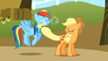 Applejack smacking Rainbow S1E13.png