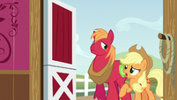 Applejack starts talking to Apple Bloom S6E23