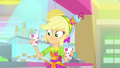 Applejack with smoothie cups under the spotlight SS9.png