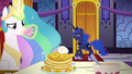 Celestia sips tea as Luna bitterly greets her S7E10.png