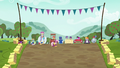 Cutie Mark Crusaders gallop to their carts S6E14.png