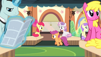 Cutie Mark Crusaders on the train S4E19