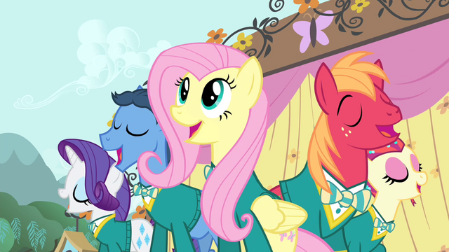File:Fluttershy and the Ponytones S4E14.png