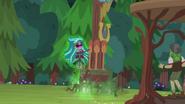Gloriosa Daisy touching the camp totem pole EG4