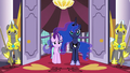 Luna and Starlight watch the delegates run away S7E10.png