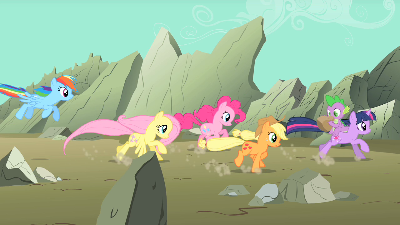 image main ponies racing to the scene s01e19 png my little pony