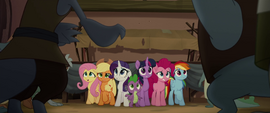 Mane Six and Spike backed into a corner MLPTM