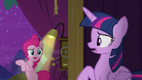 "Pinkie Pie ""from Trixie at midnight"" S8E7"