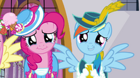 Pinkie Pie and Rainbow Dash about to cry S03E13