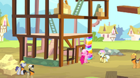 Pinkie Pie as a construction pony S4E12