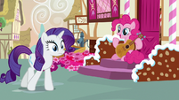 Pinkie Pie asks Rarity about the fashion contest S7E9