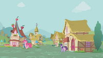 Pinkie hopping after Rainbow Dash S1E05