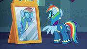 Rainbow Dash se mira al espejo T6E7