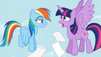 Rainbow Dash surprising Twilight S4E21