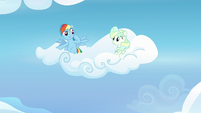 Rainbow Dash tells Vapor Trail to follow her S6E24