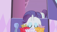 Rarity sniffing flowers S1E05