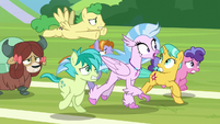 Silverstream runs happily with her classmates S8E15