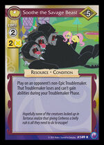 Soothe the Savage Beast card MLP CCG