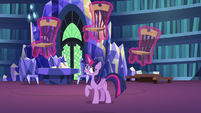 Twilight Sparkle levitating wooden chairs S7E15