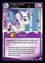 Twilight Velvet card MLP CCG