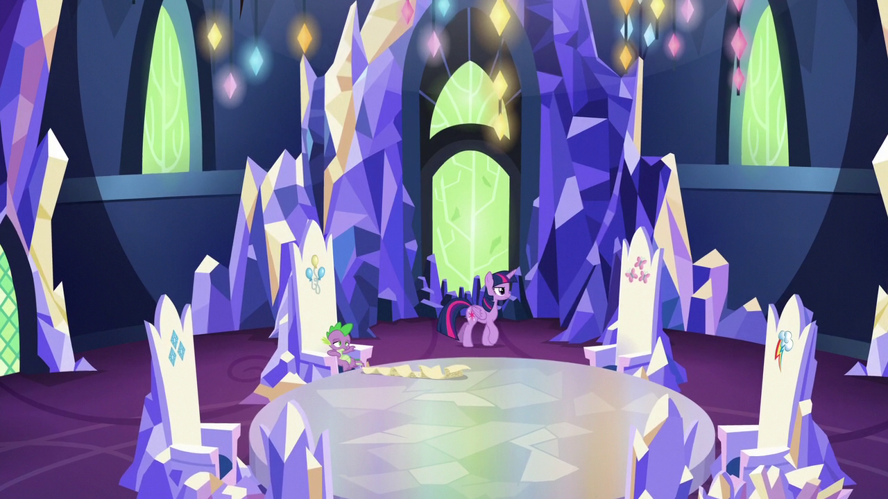 twilight pacing in the castle of friendship throne room s6e22png - Violet Castle 2016