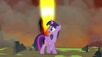 Twilight sees Tirek's magic beam shot S4E26