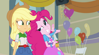 "Applejack and Pinkie ""she's psychic!"" EG"