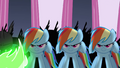 Changelings disguised as Rainbow Dash S2E26.png