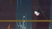 Cozy watches Tirek and Chrysalis fall in the water S9E8