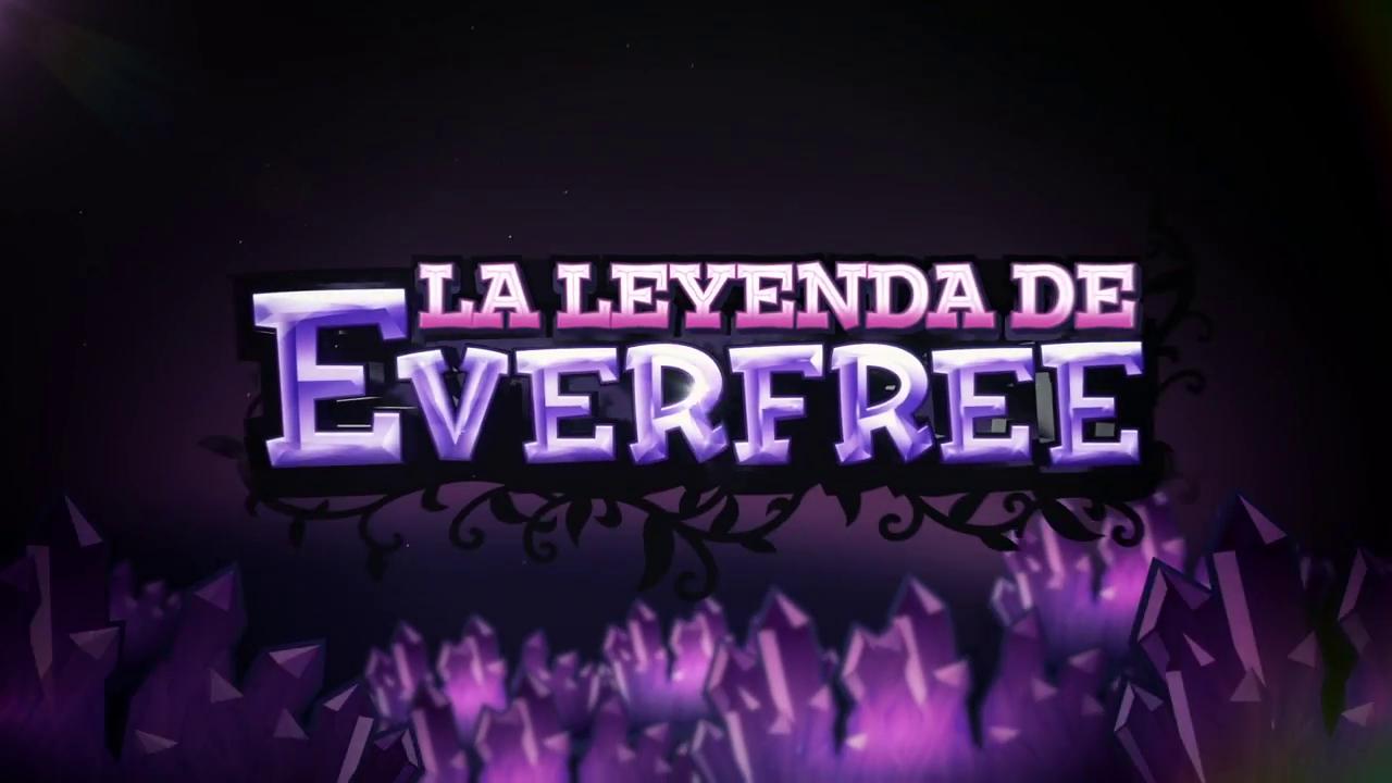 imagen eg la leyenda de everfree logo en español png my little