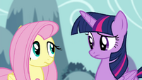 Fluttershy and Twilight confused S4E16