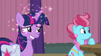 Glitter rains down on Twilight Sparkle S9E16