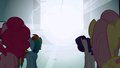 Pinkie Pie, Rainbow Dash, Rarity, Fluttershy look at the light S1E2.png