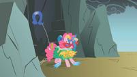 Pinkie Pie as a beaten present S1E7