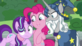 Pinkie Pie introduces Star Swirl to Starlight S7E26.png