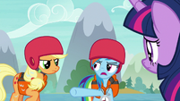 Rainbow Dash blaming Applejack S8E9