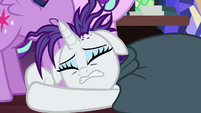 Rarity pleading at Twilight Sparkle's hoof S7E19
