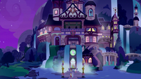 School of Friendship exterior at night S9E7