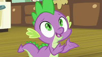 Spike -hey, remember yesterday-- S8E10