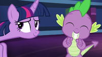 Spike smiles in excitement S5E22