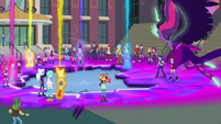 The Equestria Girls giving off magical beams EG3