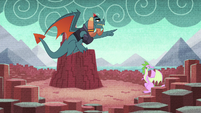 Torch instructing Spike's mother S8E24
