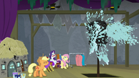 Applejack douses marshmallow with water S8E7