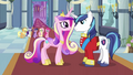Cadance and Shining Armor reunited S2E26.png