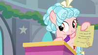 Cozy Glow holding Starlight's note S8E25