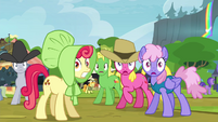 Crowd of ponies hears bear roar S4E22